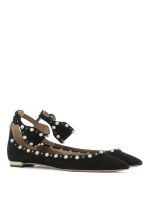 Aquazzura: flat shoes online - Harlow embellished flats