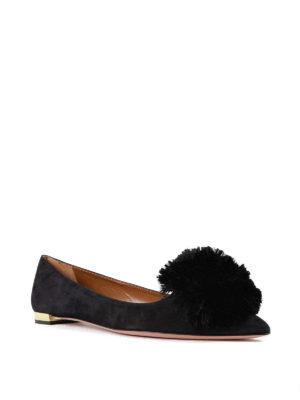 Aquazzura: flat shoes online - Powder Puff flats