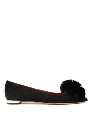 Aquazzura: flat shoes - Powder Puff flats