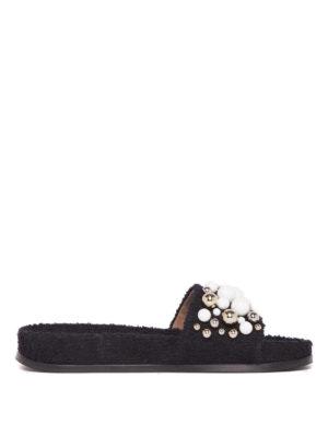 Aquazzura: flip flops - Bon Bon embellished sponge slides