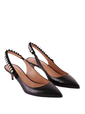 Aquazzura: scarpe décolleté online - Slingback Love Story con perle