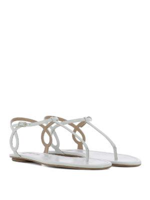 Aquazzura: sandali online - Infradito Almost Bare in pelle