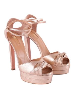 Aquazzura: sandali online - Sandali Harlow pelle metallizzata