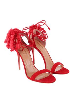 Aquazzura: sandali online - Sandali Lily Of The Valley rossi