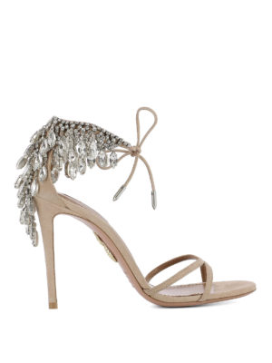 Aquazzura: sandals - Eden suede sandals