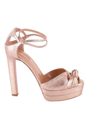 Aquazzura: sandali - Sandali Harlow pelle metallizzata
