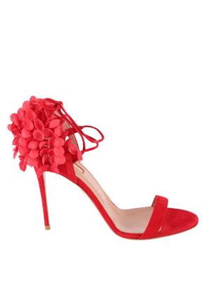 Aquazzura: sandali - Sandali Lily Of The Valley rossi