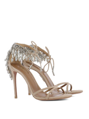 Aquazzura: sandals online - Eden suede sandals