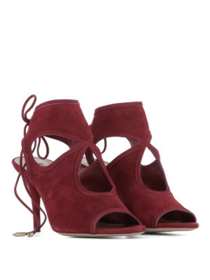 Aquazzura: sandals online - Sexy Thing 85 suede sandals