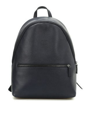 Armani Collezioni: backpacks - Hammered leather dome backpack
