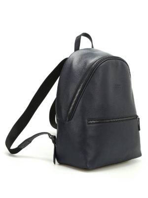 Armani Collezioni: backpacks online - Hammered leather dome backpack