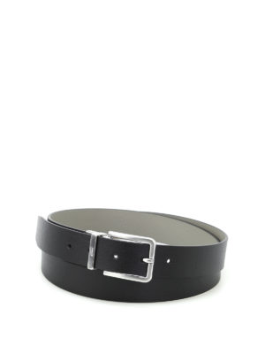 Armani Collezioni: belts - Black and grey reversible belt