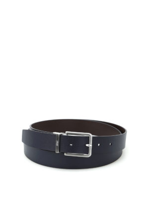 Armani Collezioni: belts - Blue and brown reversible belt