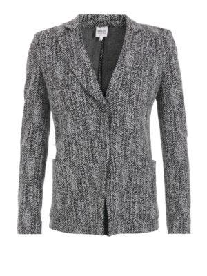 Armani Collezioni: blazers - Herringbone jersey blazer