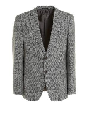 Armani Collezioni: blazers - Micro houndstooth wool blazer