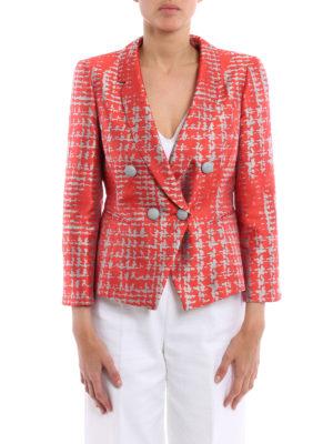 Armani Collezioni: blazers online - Silk blend jacquard blazer