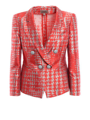 Armani Collezioni: blazers - Silk blend jacquard blazer