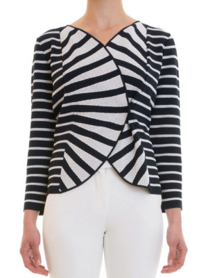 Armani Collezioni: casual jackets online - Striped jersey jacket