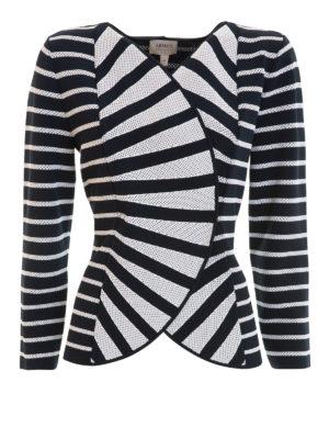 Armani Collezioni: casual jackets - Striped jersey jacket