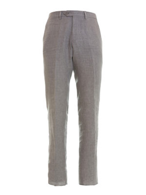 Armani Collezioni: casual trousers - Linen chino trousers