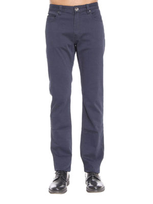 Armani Collezioni: casual trousers online - Five pocket stretch cotton trousers