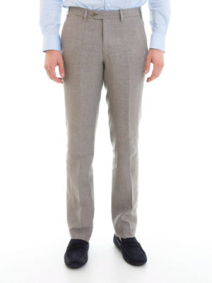 Armani Collezioni: casual trousers online - Linen chino trousers