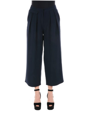 Armani Collezioni: casual trousers online - Wide leg crop trousers