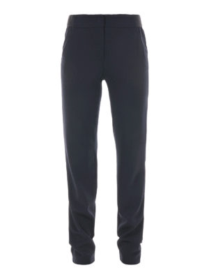 Armani Collezioni: casual trousers - Stretch wool loose trousers