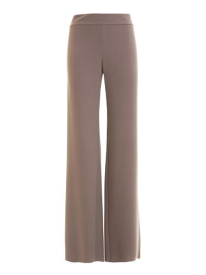 Armani Collezioni: casual trousers - Wide leg crepe cady trousers