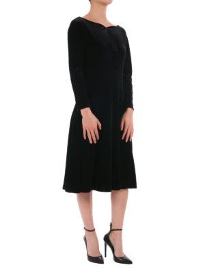 Armani Collezioni: cocktail dresses online - Boat neck chenille dress