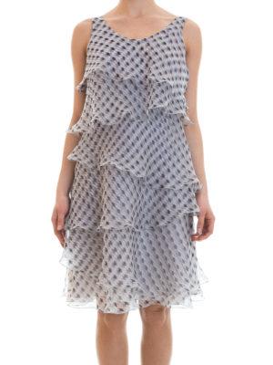 Armani Collezioni: cocktail dresses online - Silk organdie flounced dress