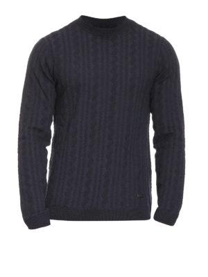 Armani Collezioni: crew necks - Ribbed wool blend sweater