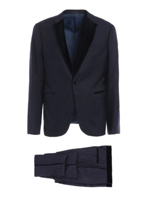 Armani Collezioni: dinner suits - Notched lapels detailed wool tuxedo