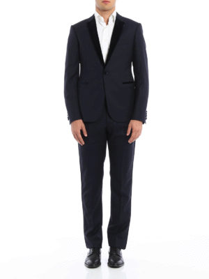 Armani Collezioni: dinner suits online - Notched lapels detailed wool tuxedo