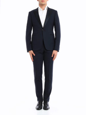 Armani Collezioni: dinner suits online - Peaked lapels detailed wool tuxedo