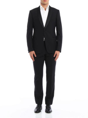 Armani Collezioni: dinner suits online - Shawl collar detailed wool tuxedo