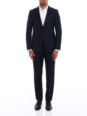 Armani Collezioni: dinner suits online - Wool jacquard tuxedo suit