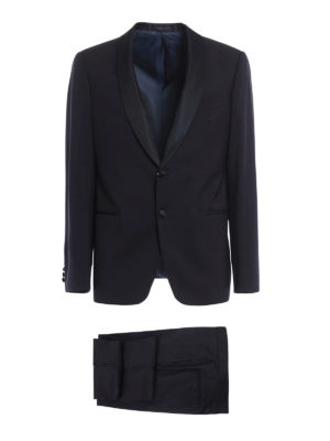 Armani Collezioni: dinner suits - Shawl collar detailed wool tuxedo