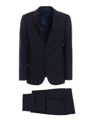 Armani Collezioni: dinner suits - Wool jacquard tuxedo suit