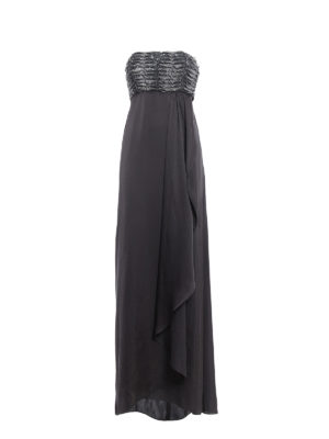 Armani Collezioni: evening dresses - Embellished top strapless gown