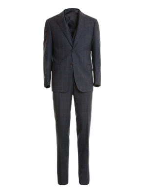 Armani Collezioni: formal suits - G-Line checked wool formal suit