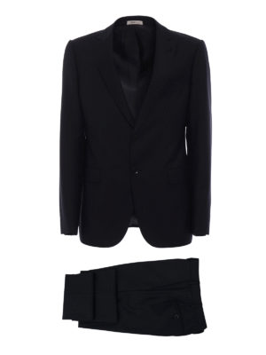 Armani Collezioni: formal suits - Jacquard virgin wool two-piece suit