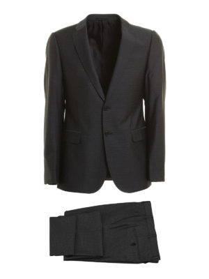 Armani Collezioni: formal suits - Micro pattern virgin wool suit