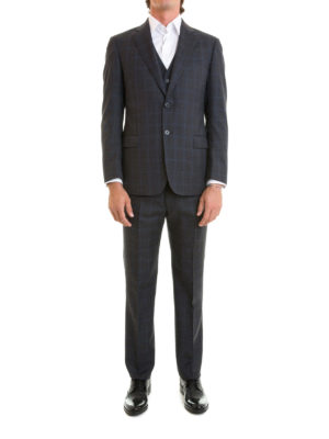 Armani Collezioni: formal suits online - G-Line checked wool formal suit
