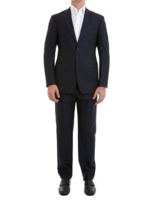 Armani Collezioni: formal suits online - G line wool jacquard suit