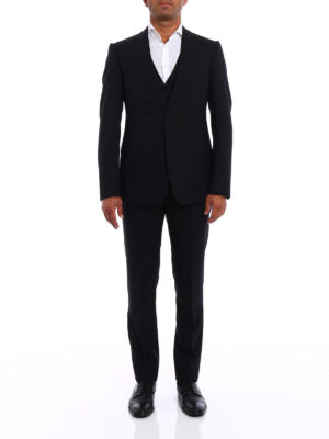 Armani Collezioni: formal suits online - Patterned wool three-piece suit