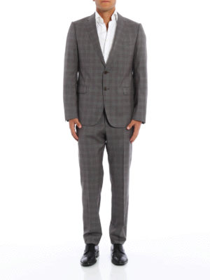 Armani Collezioni: formal suits online - Prince of Wales wool suit