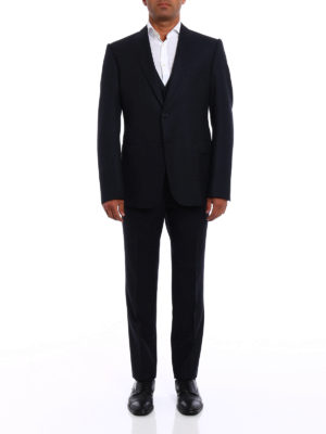 Armani Collezioni: formal suits online - Virgin wool three-piece suit