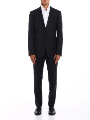 Armani Collezioni: formal suits online - Virgin wool two-piece suit