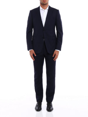 Armani Collezioni: formal suits online - Wool jacquard formal suit